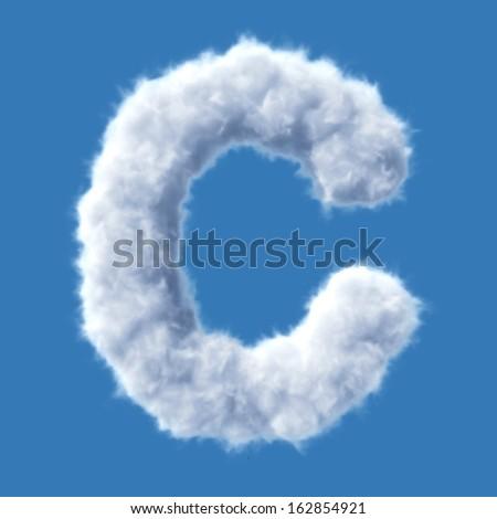 Cloud letter vector - stock vector