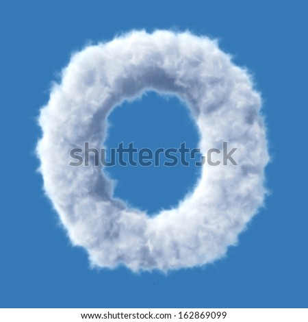 Cloud letter vector - stock vector