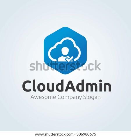 Cloud logo,Cloud admin,admin,Vector Logo Template - stock vector