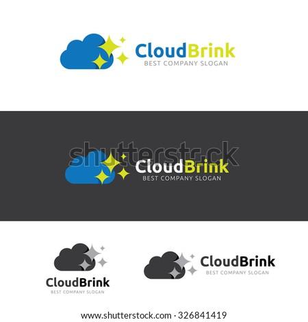 Cloud Logo,Vector Logo Template - stock vector