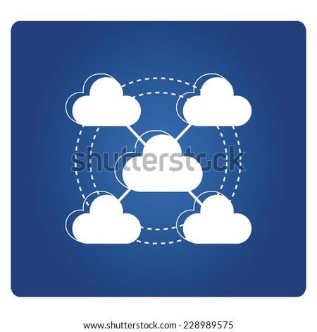 cloud network - stock vector