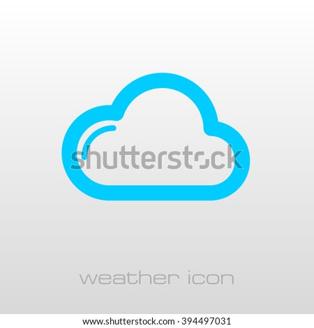 Cloud outline icon. Meteorology. Weather. Vector illustration eps 10