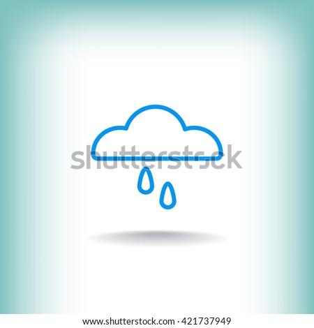 Cloud rain Icon. Cloud rain Icon Vector. Cloud rain Icon Art. Cloud rain Icon eps. Cloud rain Icon Image. Cloud rain Icon logo. Cloud rain Icon Sign. Cloud rain Icon Flat. Cloud rain Icon design - stock vector