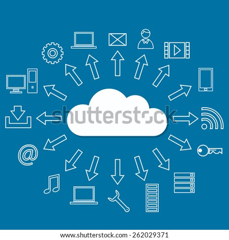 Cloud services - stock vector