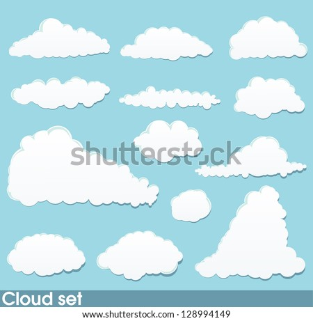 Cloud set - stock vector