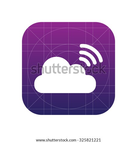 Cloud share sign icon, vector illustration. Flat design style for web and mobile.