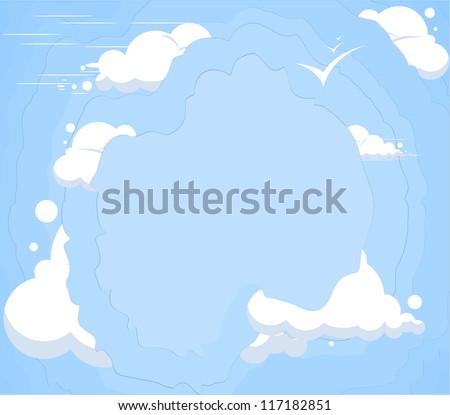 cloud sky background - stock vector