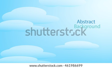 cloud sky blue color background abstract art vector
