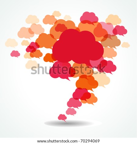 cloud speech bubbles - stock vector