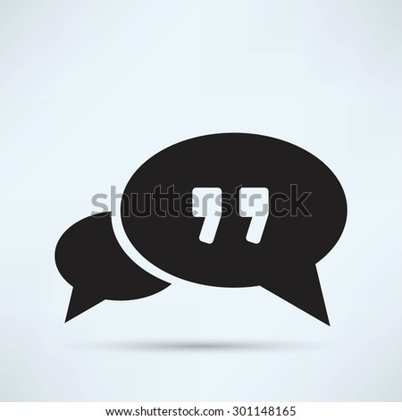 cloud Speech icon - stock vector
