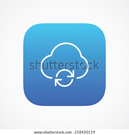 Cloud storage update refresh sync icon button, vector illustration. Simple flat metro design style. esp10 - stock vector