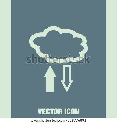 cloud storage upload and download vector icon