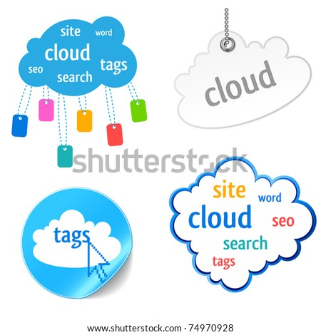 cloud tag icon - keywords, seo, search,website