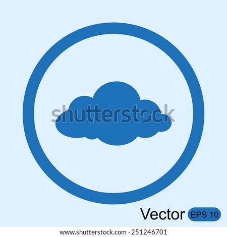 Cloud vector icon - stock vector