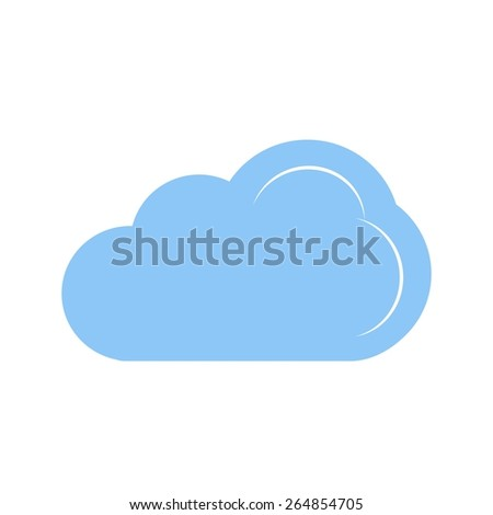 Cloud vector image recommended for use in web applications, mobile applications, and print media.