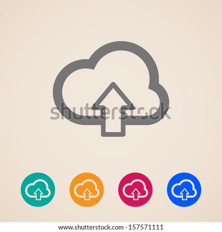 cloud with upload arrow. vector icons - stock vector
