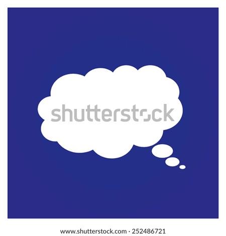 Cloude  icon - stock vector