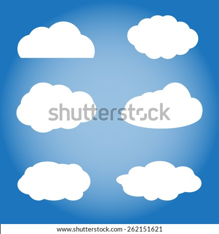 clouds - stock vector