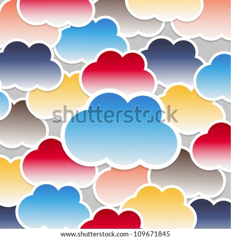 Clouds background - stock vector