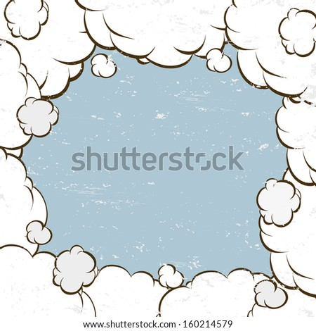 Clouds backgrounds, vector illustration - stock vector