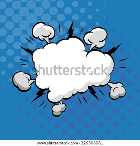 Clouds boom backgrounds, vector illustration  - stock vector