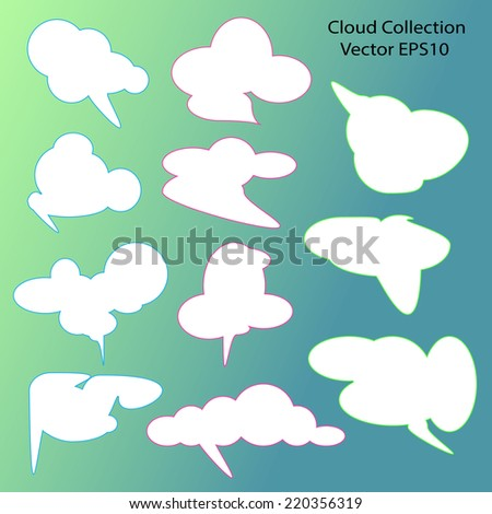 clouds Collection - stock vector
