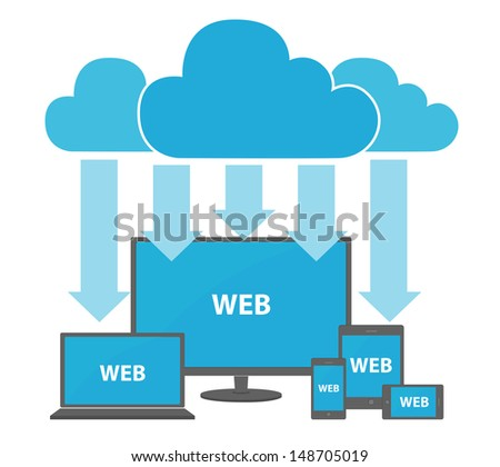 clouds computing concept