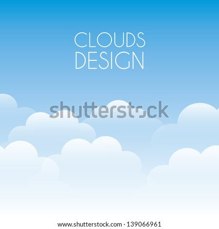 clouds design over sky background vector illustration - stock vector