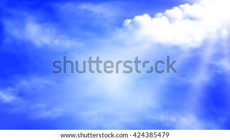 clouds during a sunny day - stock vector