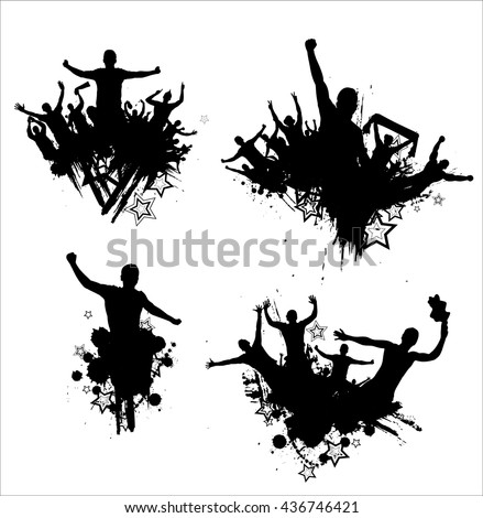Clouds from the crowd  - stock vector