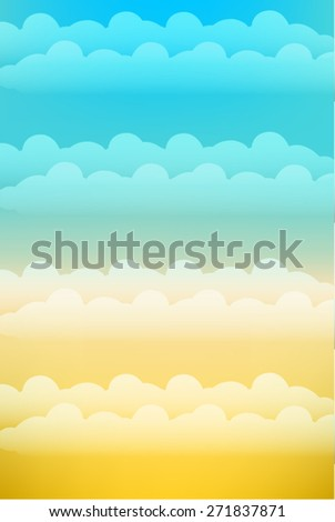 Clouds Mobile Size Background. Vector - stock vector