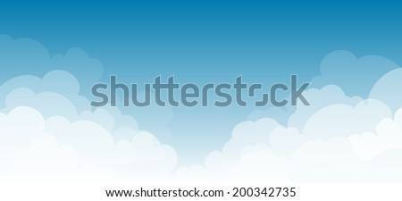 clouds on a blue sky background  - stock vector