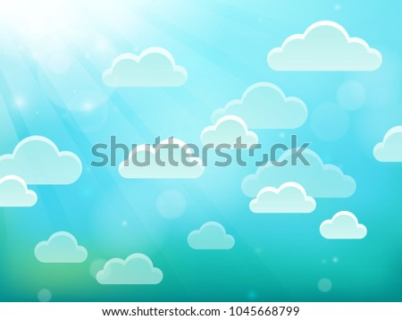 Clouds on sky theme 4 - eps10 vector illustration.