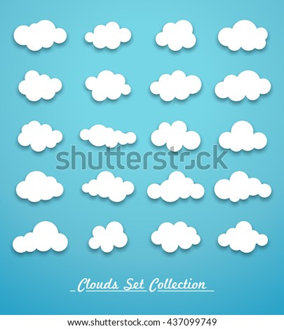 Clouds set vector - stock vector