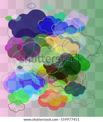 cloudscape vector pattern