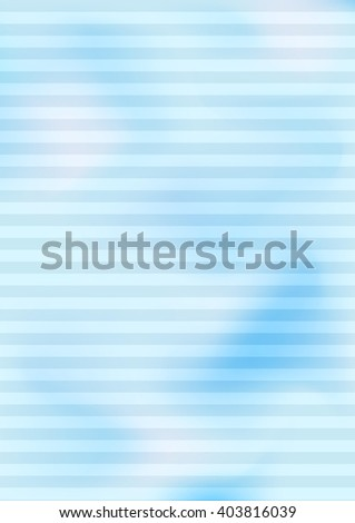 cloudy abstract color background with horizontal stripes, blue, vector illustration - stock vector