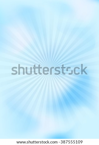 cloudy abstract color background with star, blue, vector illustration - stock vector