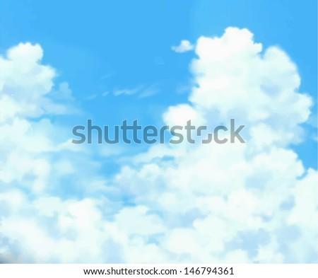 Cloudy sky - stock vector