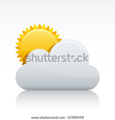 Cloudy. Vector in Adobe Illustrator EPS for multiple applications. - stock vector