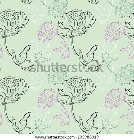 clover flower seamless pattern