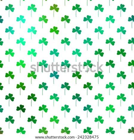 Clover flower seamless pattern for Saint Patrick's day - stock vector