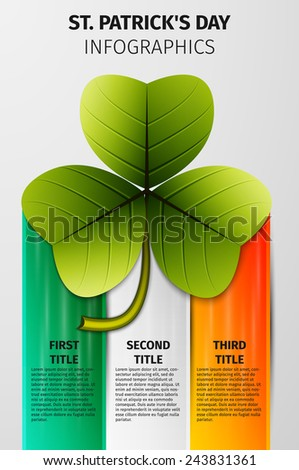 Clover icon. St. Patrick's Day flat design, excellent vector illustration, EPS 10w - stock vector