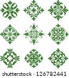 Clover Leaf Icons - stock vector