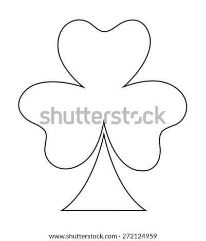 Clover Leaf Shape Cartoon - stock vector