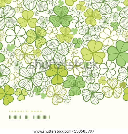 Clover line art horizontal decor seamless pattern background