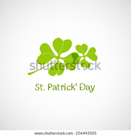 Clover. Logo, icon, background. St. Patrick's Day - stock vector