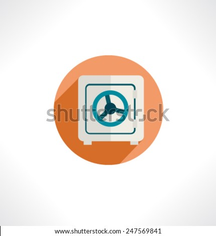 Clover sign icon. Saint Patrick symbol. Circle flat button with shadow. Modern website navigation. Vector. - stock vector