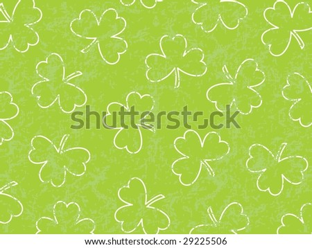 clover with green background, wallpaper - stock vector