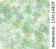 clover with three leaves pattern, white background - stock photo