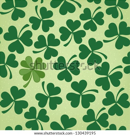 Cloverleaf Seamless Saint Patrick's Day Pattern - stock vector